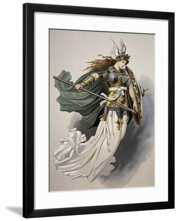 Costume for Siegfrido, Character from the Rhine Gold by Richard Wagner, 1876--Framed Giclee Print