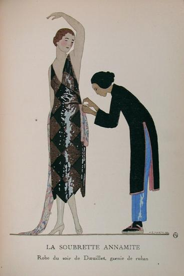 Costume Illustration by A. E. Marty--Art Print