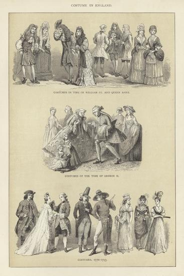 Costume in England--Giclee Print