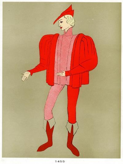 Costume of 1455, Early to Mid 20th Century--Giclee Print
