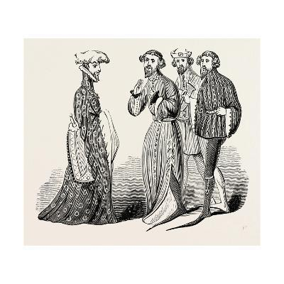 Costume of the Time of Richard II, Sleeves and Shoes--Giclee Print