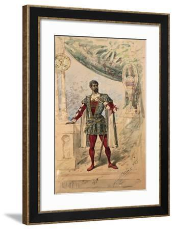 Costume Sketch by Alfred Edel for the Role of Otello in the Second and Third Act--Framed Giclee Print