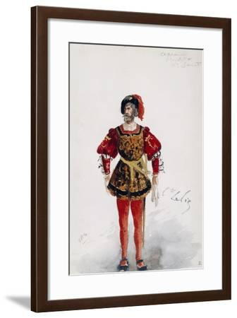 Costume Sketch by Lepic for Role of Count of Ceprano in Premiere of Opera Rigoletto-Giuseppe Verdi-Framed Giclee Print