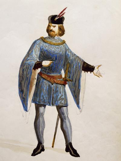 Costume Sketch for Arturo in La Straniera--Giclee Print