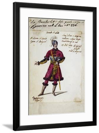 Costume Sketch for Corrado in I Briganti--Framed Giclee Print