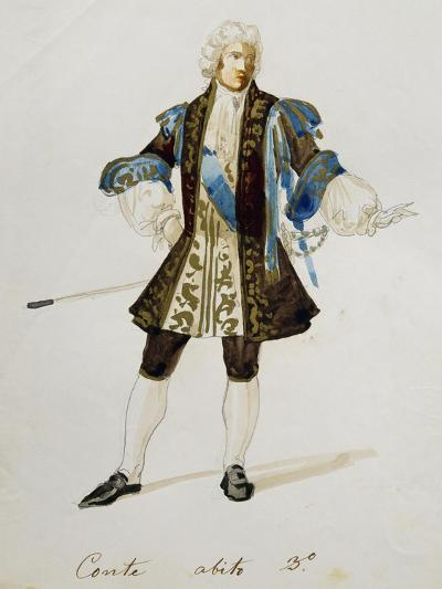 Costume Sketch for Count in Adriana Lecouvreur, Opera by Francesco Cilea--Giclee Print