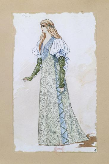 Costume Sketch for Desdemona in Otello for the Performance at Paris, Salle Garnier--Giclee Print