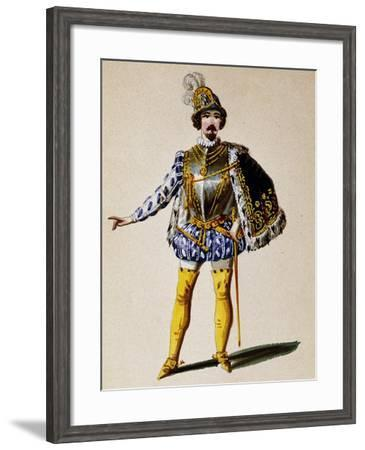 Costume Sketch for Don Sebastiano, Opera by Gaetano Donizetti--Framed Giclee Print