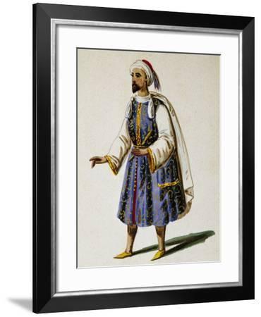 Costume Sketch for Don Sebastiano, Opera by Gaetano Donizetti--Framed Giclee Print