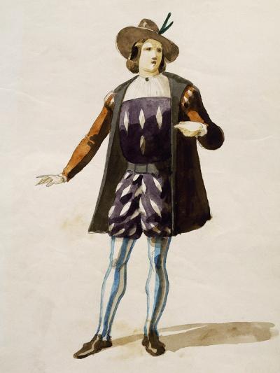 Costume Sketch for Elvino in La Sonnambula--Giclee Print