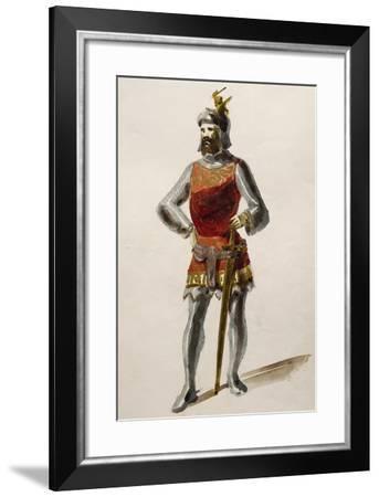 Costume Sketch for Ernesto in Il Pirata--Framed Giclee Print