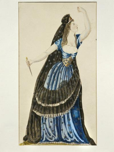 Costume Sketch for Queen of the Night for Performance the Magic Flute--Giclee Print