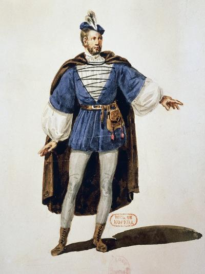 Costume Sketch for Role of Arnoldo, Performed by Tenor Adolphe Nourrit--Giclee Print