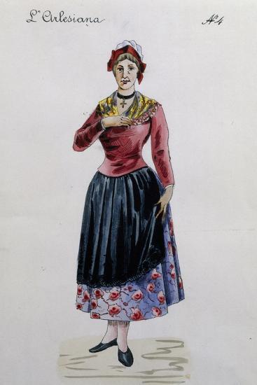 Costume Sketch for Rosa in L'Arlesiana, Opera by Francesco Cilea--Giclee Print