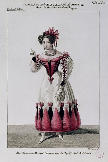 Costume Sketch for Rosina--Giclee Print