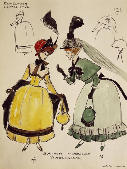 Costume Sketch for Travelers of Opera Fra Diavolo--Giclee Print