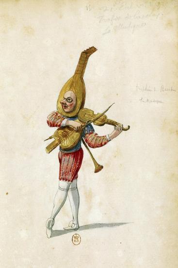 Costume Sketch-Jean Berain the Elder-Giclee Print