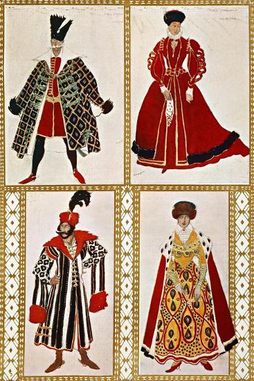 Costume Sketches-Leon Bakst-Giclee Print