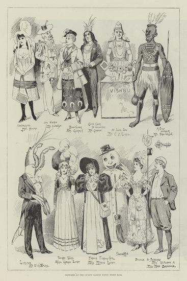 Costumes at the Covent Garden Fancy Dress Ball--Giclee Print