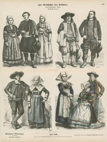 Costumes of Brittany, Late 19th Century--Giclee Print