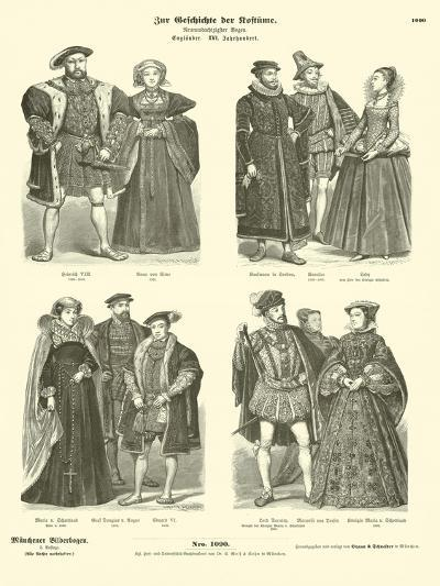 Costumes of English and Scottish Royalty and Nobility, 16th Century--Giclee Print