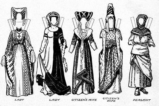 'Costumes of Men and Women as Worn in the Period When Henry V Reigned', c1934-Unknown-Giclee Print