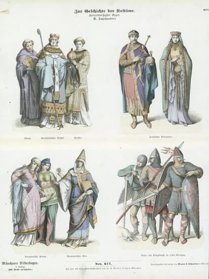 Costumes of the 11th Century--Giclee Print