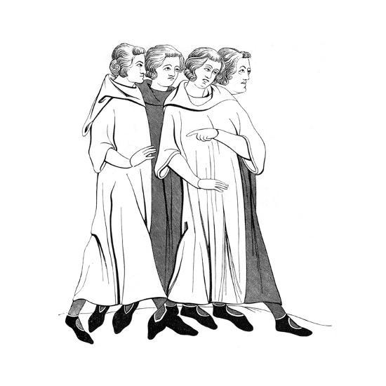 Costumes of the Bourgeoisie, 13th Century--Giclee Print