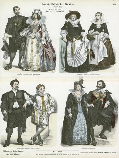 Costumes of the Netherlands, Early 17th Century--Giclee Print