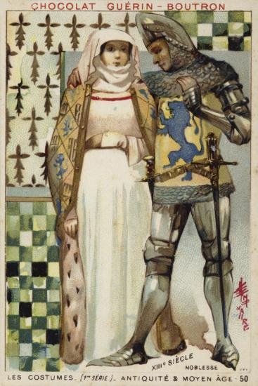 Costumes of the Nobility, 13th Century--Giclee Print