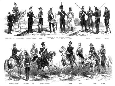 Costumes of the Swiss Federal Army, 1857--Giclee Print