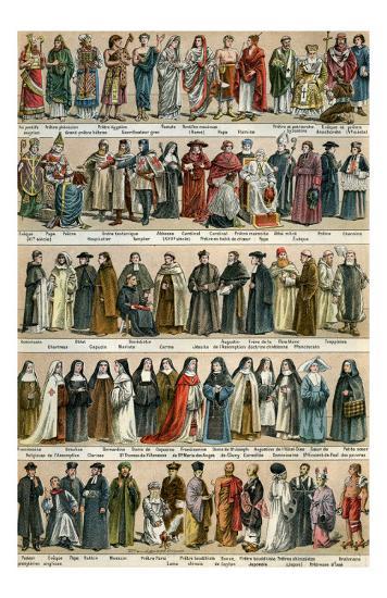 Costumes Religieux--Art Print