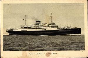 Cosulich Line, M.S. Saturnia, Vulcania, Dampfschiff