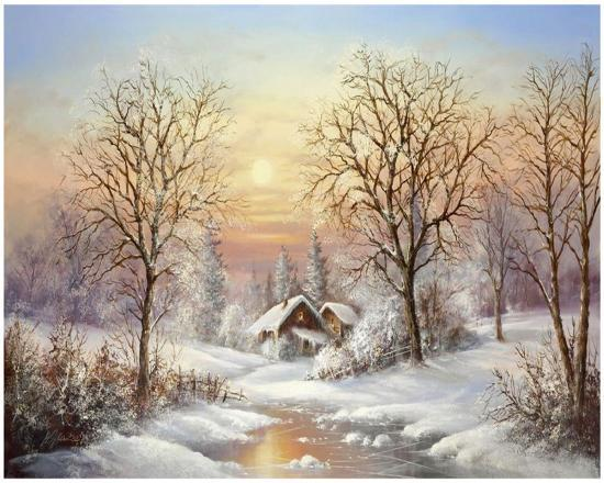 Cosy Winter-Helmut Glassl-Art Print