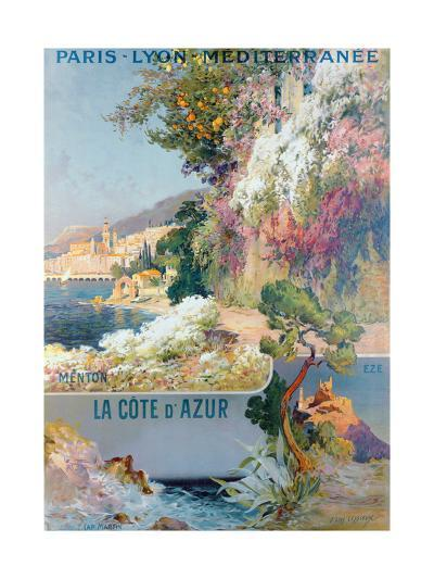 Cote d'Azur and Mediterranean Poster-Ernest Louis Lessieux-Giclee Print