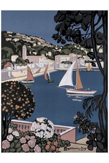 Cote d'Azur Bateaux-Guillaume Roger-Giclee Print