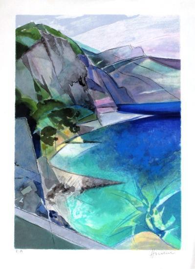 Cote d'Azur - Lesterel-Camille Hilaire-Collectable Print