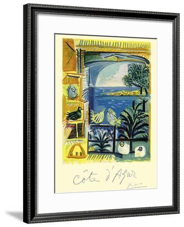 Cote d'Azur - Picasso's Studio Pigeons Velazquez-Pablo Picasso-Framed Giclee Print
