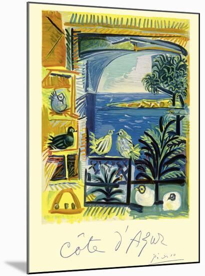 Cote d'Azur - Picasso's Studio Pigeons Velazquez-Pablo Picasso-Mounted Giclee Print