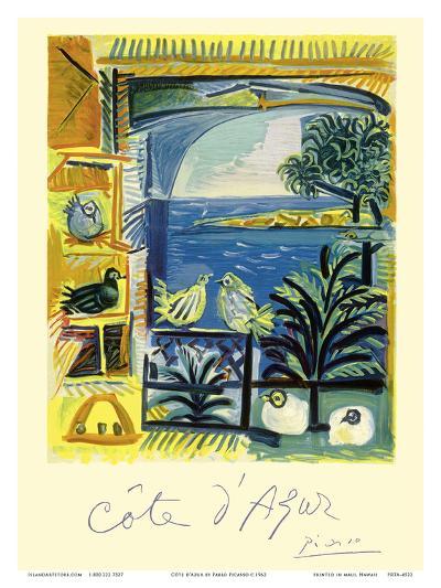 Cote d'Azur - Picasso's Studio Pigeons Velazquez-Pablo Picasso-Art Print