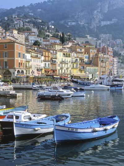 Cote D'Azur, Villefranche-Sur-Mer, View on Town and Port-Marcel Malherbe-Photographic Print