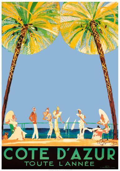 Cote d'Azur-Jean-Gabriel Domergue-Art Print