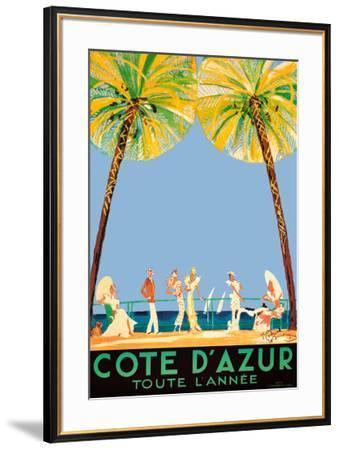 Cote d'Azur-Jean-Gabriel Domergue-Framed Art Print