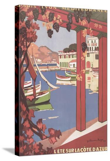 Cote d'Azur--Stretched Canvas Print