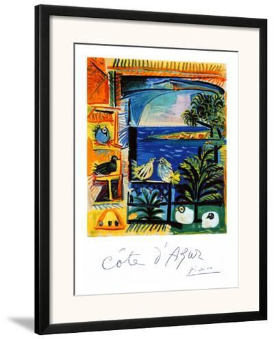Cote d'Azur-Pablo Picasso-Framed Giclee Print