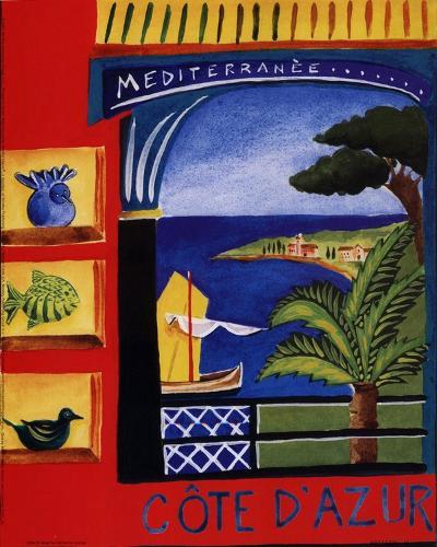 Cote D'Azur-Katharine Gracey-Art Print