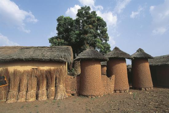 Côte D'Ivoire - Northern Senufo Area. Cylinder Granaries at Nawalakaha--Giclee Print