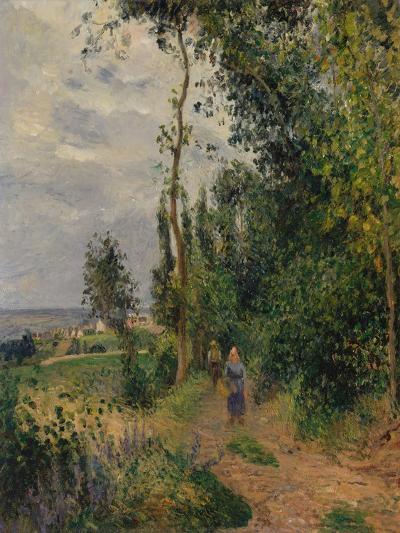 Côte des Grouettes, near Pontoise, c.1878-Camille Pissarro-Giclee Print
