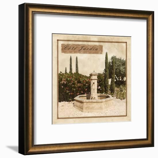 Côté Jardin--Framed Art Print