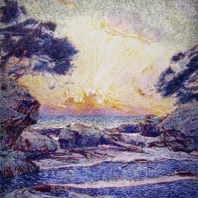 Cote Scene, Sunset, Scene De Cote, Coucher De Soleil-Frans Gaillard-Giclee Print